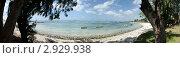 Лагуна с рыбацкими лодками. Маврикий. Панорама. (2011 год). Стоковое фото, фотограф Юрий Петров / Фотобанк Лори