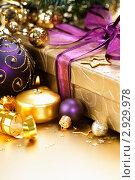 Купить «Рождественская композиция», фото № 2929978, снято 1 ноября 2011 г. (c) Наталия Кленова / Фотобанк Лори