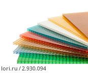 Купить «Листы цветного пластика (сотовый поликарбонат)», фото № 2930094, снято 27 апреля 2011 г. (c) Ирина Грищенко / Фотобанк Лори