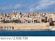 Купить «Вид с моря на Валетту и Великую Гавань, Мальта», фото № 2938730, снято 17 декабря 2010 г. (c) Яков Филимонов / Фотобанк Лори