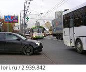 Купить «Москва. Плотное движение на Щелковском шоссе», эксклюзивное фото № 2939842, снято 3 ноября 2011 г. (c) lana1501 / Фотобанк Лори