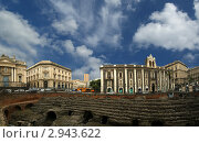 Купить «Римский амфитеатр, Катания, Сицилия, Южная Италия», фото № 2943622, снято 2 мая 2011 г. (c) Владимир Журавлев / Фотобанк Лори