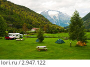 Купить «Кемпинг в горах», фото № 2947122, снято 14 августа 2011 г. (c) Юлия Бабкина / Фотобанк Лори