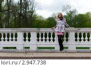 Портрет блондинки на мосту. Стоковое фото, фотограф Dmitri Maruta / Фотобанк Лори
