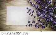 Купить «Цветы лаванды на деревянном фоне», фото № 2951758, снято 22 июня 2011 г. (c) Дарья Петренко / Фотобанк Лори