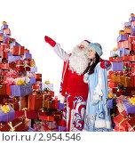 Купить «Дед Мороз и Снегурочка», фото № 2954546, снято 5 декабря 2010 г. (c) Владимир Мельников / Фотобанк Лори