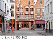 Купить «Улица города Брюгге, Бельгия», эксклюзивное фото № 2955162, снято 22 июля 2011 г. (c) Илюхина Наталья / Фотобанк Лори