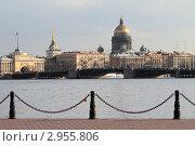Купить «Санкт-Петербург, вид на город со стороны Петропавловской крепости», эксклюзивное фото № 2955806, снято 29 апреля 2011 г. (c) Дмитрий Неумоин / Фотобанк Лори