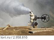 Купить «Выброс термальной воды и пара из скважины. Мутновская ГеоТЭС на Камчатке», фото № 2958810, снято 21 сентября 2011 г. (c) А. А. Пирагис / Фотобанк Лори