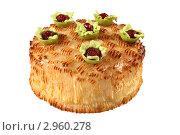 Купить «Торт на белом фоне», эксклюзивное фото № 2960278, снято 27 октября 2011 г. (c) Дмитрий Неумоин / Фотобанк Лори