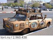 Купить «Ретроавтомобиль, покрытый деревом», фото № 2960438, снято 4 ноября 2011 г. (c) Валерий Семикин / Фотобанк Лори