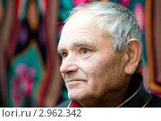 Купить «Портрет пожилого, семидесятилетнего, мужчины в интерьере крупным планом», фото № 2962342, снято 28 октября 2009 г. (c) Величко Микола / Фотобанк Лори