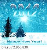 Купить «Новогодняя обложка для альбома 2012 года», иллюстрация № 2966830 (c) ElenArt / Фотобанк Лори