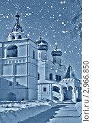 Купить «Рождественский вечер в монастыре, снег идет», фото № 2966850, снято 25 марта 2019 г. (c) ElenArt / Фотобанк Лори