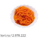 Вкусная морковка по-корейски. Стоковое фото, фотограф Суворова Нина / Фотобанк Лори