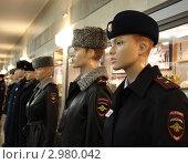 Купить «Новая форма полиции на манекенах», эксклюзивное фото № 2980042, снято 28 октября 2011 г. (c) Free Wind / Фотобанк Лори