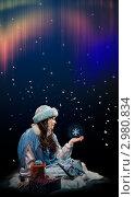 Купить «Снегурочка под северным сиянием», фото № 2980834, снято 29 марта 2020 г. (c) Владимир Мельников / Фотобанк Лори
