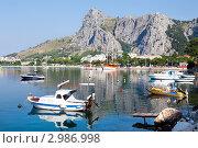 Купить «Вид со стороны моря на хорватский город и Далматинскую ривьеру, Хорватия», фото № 2986998, снято 15 июля 2010 г. (c) Николай Винокуров / Фотобанк Лори