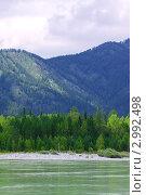 Купить «Горная река Катунь. Алтай», фото № 2992498, снято 23 июля 2011 г. (c) Яков Филимонов / Фотобанк Лори