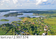 Озеро Селигер с высоты. Стоковое фото, фотограф Елена Коромыслова / Фотобанк Лори