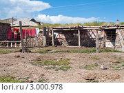 Двор дома в посёлке, Киргизия (2011 год). Стоковое фото, фотограф Dmitry Lameko / Фотобанк Лори