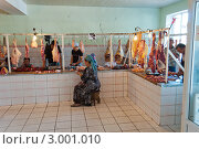 Мясная лавка г.Ош, Киргизия (2011 год). Редакционное фото, фотограф Dmitry Lameko / Фотобанк Лори