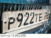 Купить «Регистрационный номер автомобиля через сосульки», эксклюзивное фото № 3002658, снято 3 января 2011 г. (c) Зобков Георгий / Фотобанк Лори