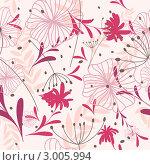 Купить «Бесшовный розовый цветочный фон», иллюстрация № 3005994 (c) Павел Коновалов / Фотобанк Лори