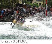 Купить «Сплав по горной реке», фото № 3011070, снято 16 июня 2008 г. (c) Александр Литовченко / Фотобанк Лори