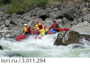 Купить «Сплав по горной реке», фото № 3011294, снято 6 июня 2010 г. (c) Анастасия Лукьянова / Фотобанк Лори
