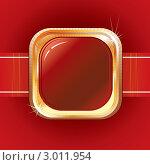 Красный пояс и металлическая пряжка в качестве фона. Стоковая иллюстрация, иллюстратор PILart / Фотобанк Лори