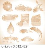 Купить «Набор капель разной формы. Тонированная иллюстрация, сепия», иллюстрация № 3012422 (c) PILart / Фотобанк Лори