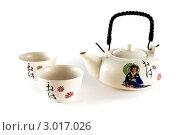 Набор посуды для чайной церемонии. Стоковое фото, фотограф Фотиев Михаил / Фотобанк Лори