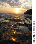 Морской закат. Стоковое фото, фотограф Елена Стрильчук / Фотобанк Лори