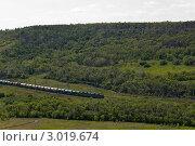 Купить «Летний пейзаж с железной дорогой», фото № 3019674, снято 19 июня 2011 г. (c) Сергей Яковлев / Фотобанк Лори