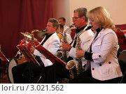 Купить «Музыканты в оркестре г. Углич», эксклюзивное фото № 3021562, снято 19 августа 2009 г. (c) Татьяна Белова / Фотобанк Лори