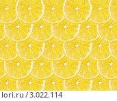 Купить «Фон из долек лимона», фото № 3022114, снято 26 января 2011 г. (c) Кропотов Лев / Фотобанк Лори