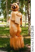 Купить «Деревянная фигура медведя на территории Богородской фабрики художественной резьбы», эксклюзивное фото № 3028258, снято 23 июля 2011 г. (c) Зобков Георгий / Фотобанк Лори