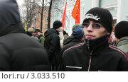 Купить «Люди протестуют против нечестных выборов в Петрозаводске», видеоролик № 3033510, снято 10 декабря 2011 г. (c) Павел С. / Фотобанк Лори