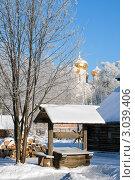 Купить «Зимний пейзаж c деревянным колодцем», фото № 3039406, снято 24 января 2007 г. (c) ElenArt / Фотобанк Лори