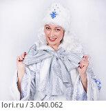 Снегурочка с бантом. Стоковое фото, фотограф Павел Сазонов / Фотобанк Лори