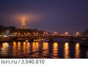 Ночной Париж (2011 год). Редакционное фото, фотограф Евгения Фурсова / Фотобанк Лори
