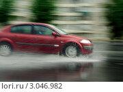Авто и дождь. Стоковое фото, фотограф Дмитрий Лемешко / Фотобанк Лори