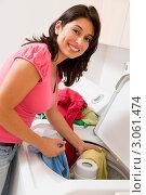 Купить «Женщина стирает», фото № 3061474, снято 4 октября 2007 г. (c) Monkey Business Images / Фотобанк Лори