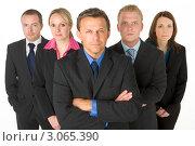 Купить «Команда деловых людей, стоят за спиной бизнесмена», фото № 3065390, снято 17 февраля 2019 г. (c) Monkey Business Images / Фотобанк Лори