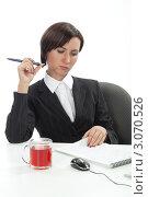 Купить «Сотрудник офиса», фото № 3070526, снято 20 декабря 2011 г. (c) Михаил Иванов / Фотобанк Лори