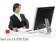 Купить «Сотрудник офиса», фото № 3070530, снято 20 декабря 2011 г. (c) Михаил Иванов / Фотобанк Лори