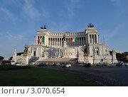 Рим. Палаццо Витториано и площадь Венеции. Стоковое фото, фотограф Igor5 / Фотобанк Лори