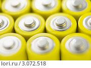Купить «Желтые пальчиковые батарейки», фото № 3072518, снято 24 апреля 2007 г. (c) Monkey Business Images / Фотобанк Лори