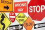 Комплект дорожных знаков, фото № 3074854, снято 5 августа 2008 г. (c) Monkey Business Images / Фотобанк Лори